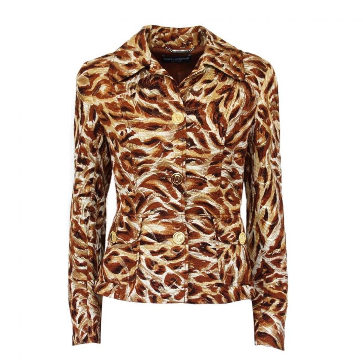 Dolce & Gabbana \N Brown Silk jacket for Women 38 IT