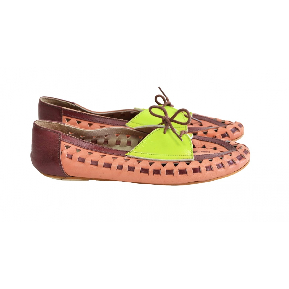 Asos \N Multicolour Leather Flats for Women 5 UK
