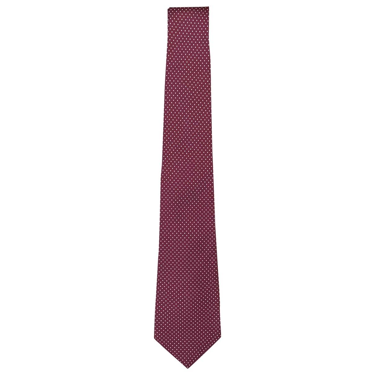 Burberry \N Burgundy Silk Ties for Men \N