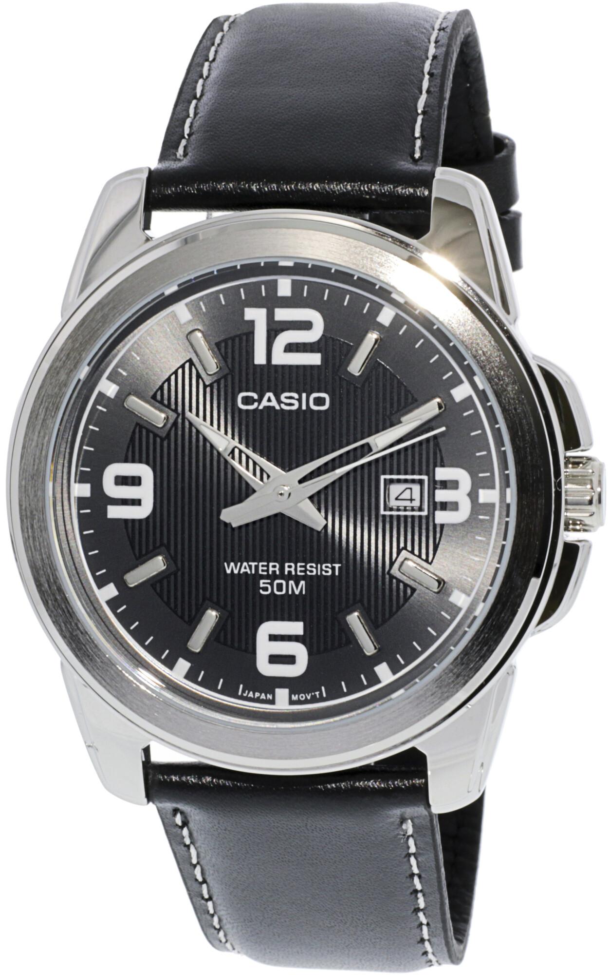 Casio Men's Core MTP1314L-8AV Silver Leather Quartz Fashion Watch