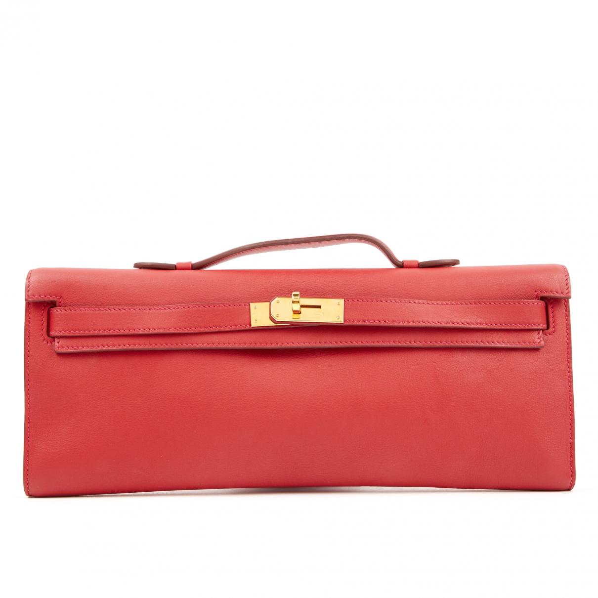 Hermès Kelly Cut Clutch Red Leather Clutch bag for Women \N