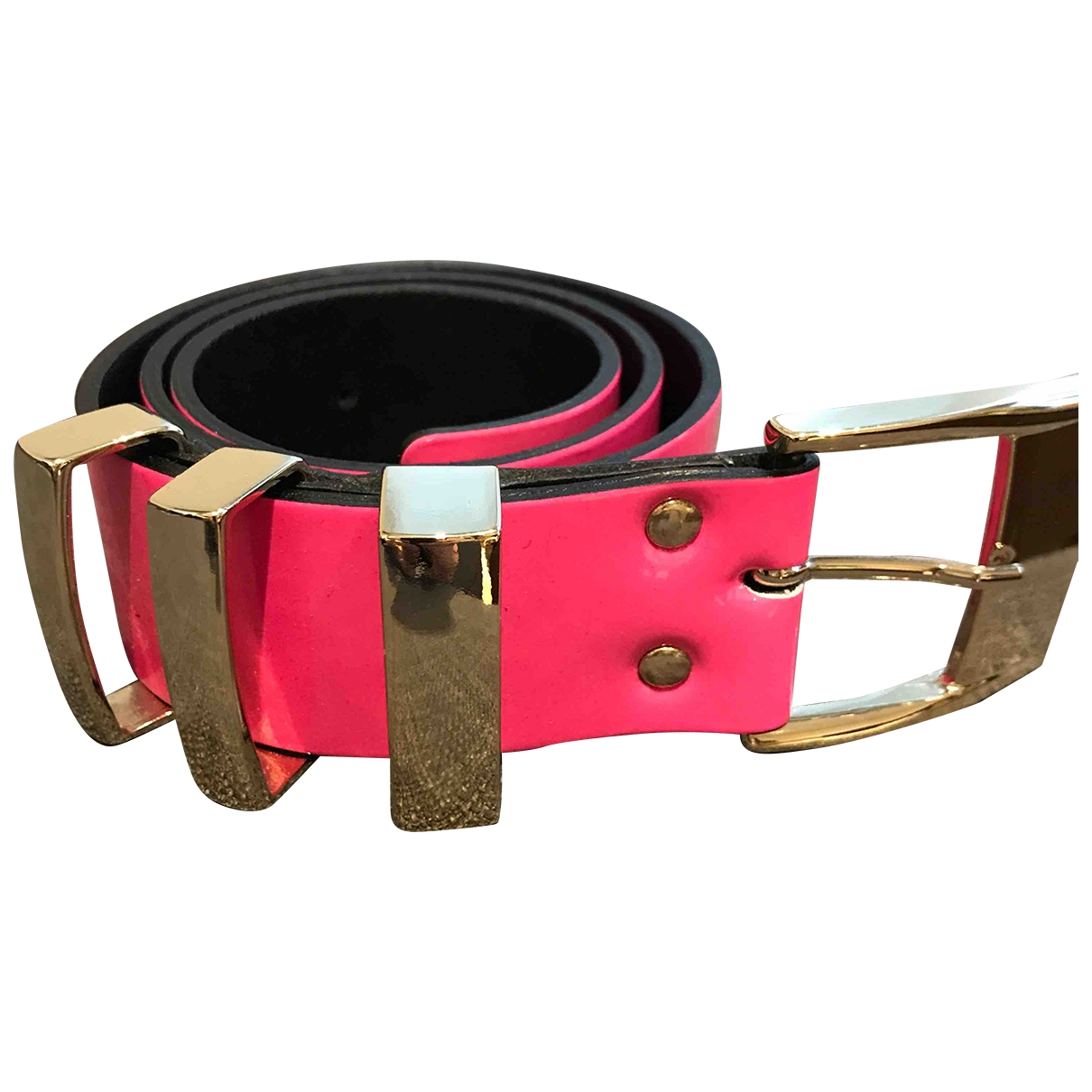 Versace X H&m \N Pink Leather belt for Women XS International