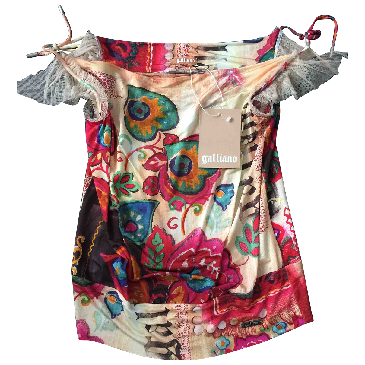 John Galliano \N Multicolour Cotton  top for Women S International