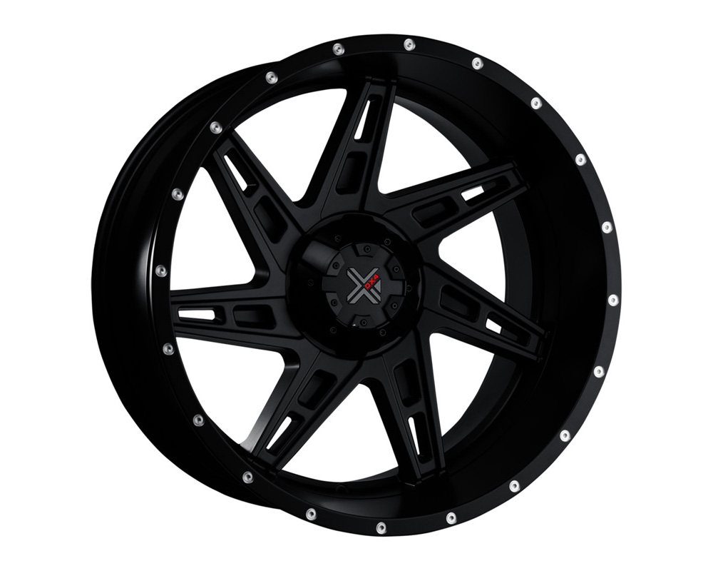 DX4 Skull Flat Black Full Painted Wheel 20x11.5 8x165.1 -40