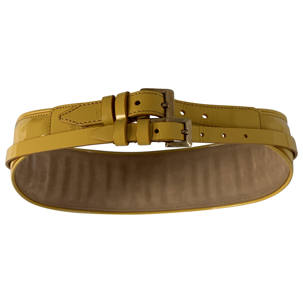 Burberry \N Yellow Patent leather belt for Women 80 cm
