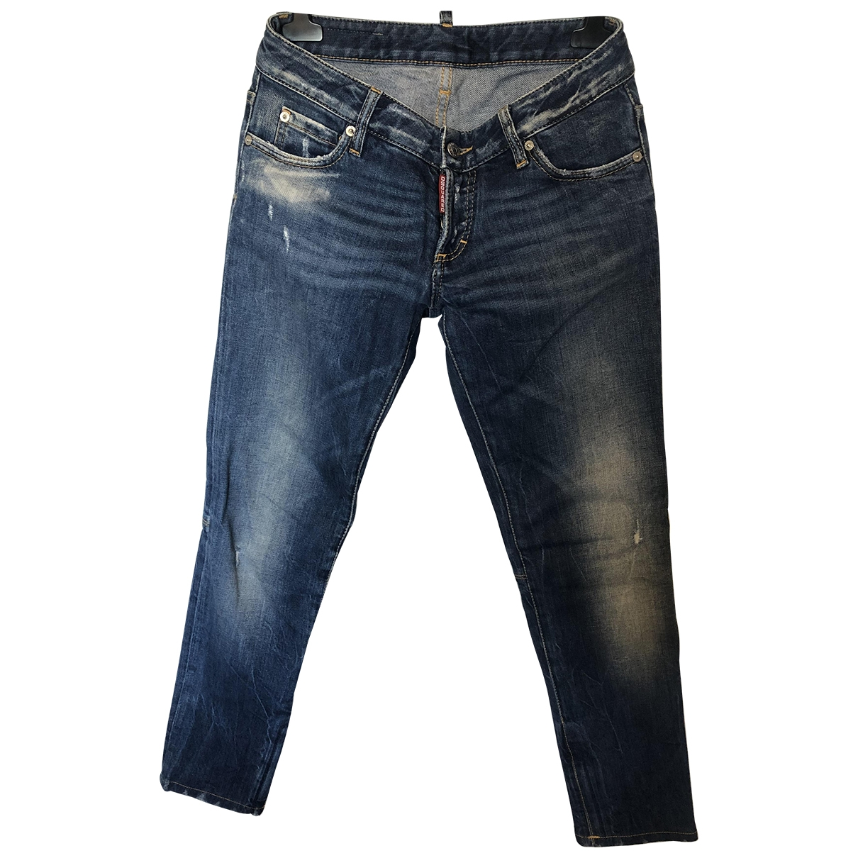 Dsquared2 \N Blue Cotton - elasthane Jeans for Women 40 FR