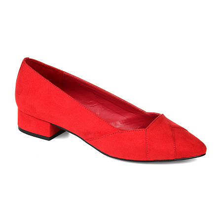 Journee Collection Womens Justine Pointed Toe Slip-on Loafers, 11 Medium, Red