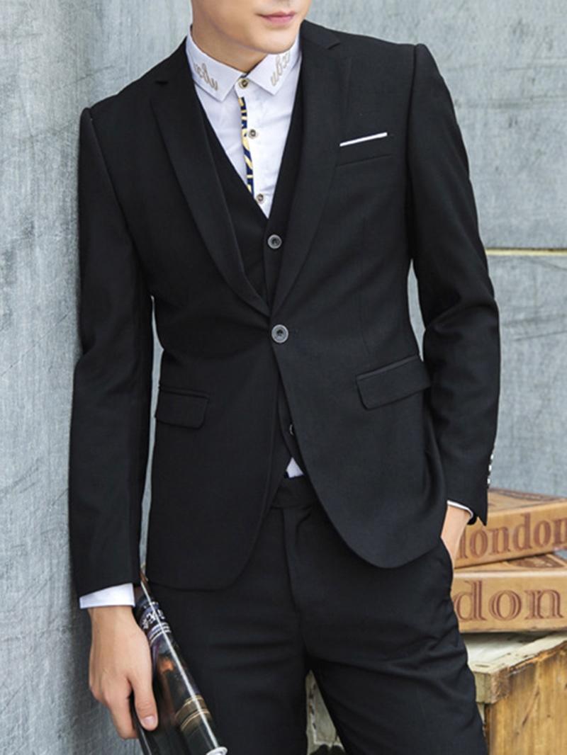 Ericdress Multi-Color Three-Piece Elegant Men's Suit