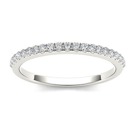 2MM 1/6 CT. T.W. Genuine White Diamond 10K Gold Wedding Band, 7 1/2 , No Color Family