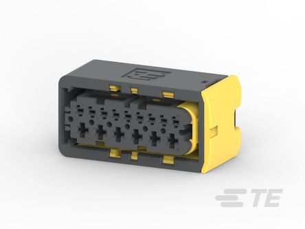 TE Connectivity , HDSCS Automotive Connector Socket 2 Row 15 Way, IP67, IP6K9K, Black (2)