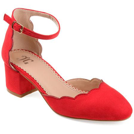 Journee Collection Womens Edna Heeled Sandals, 8 Medium, Red