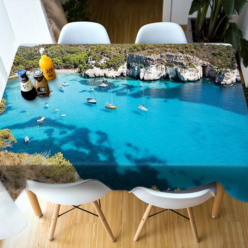 Kitchen Dinner Multicolor European Style Print 3D Tablecloth