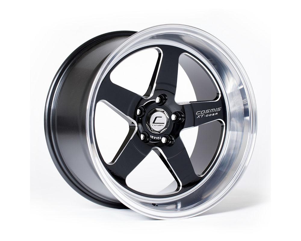 Cosmis Racing XT005R-1890-25-5x100-BML XT-005R Wheel 18x9 5x100 +25mm Black w/ Machined Lip