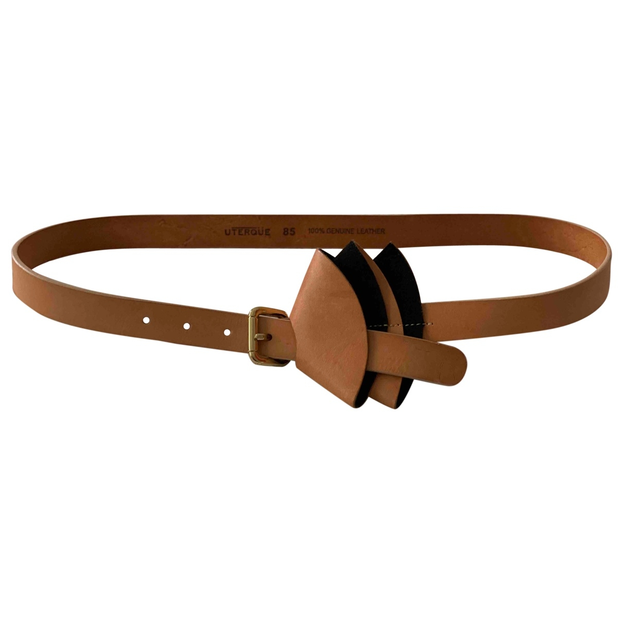 Uterque \N Camel Leather belt for Women 85 cm