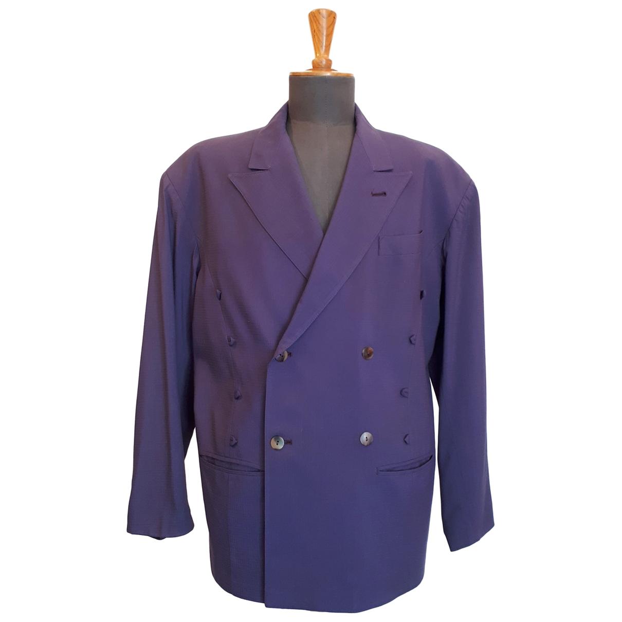 Jean Paul Gaultier \N Purple Wool jacket  for Men 48 FR