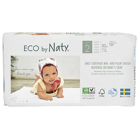 Eco by Naty Disposable Diapers for Sensitive Skin - 33.0 ea