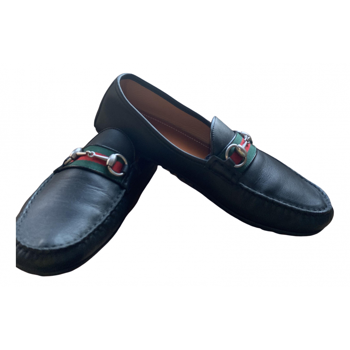 Gucci \N Black Leather Flats for Men 9.5 US