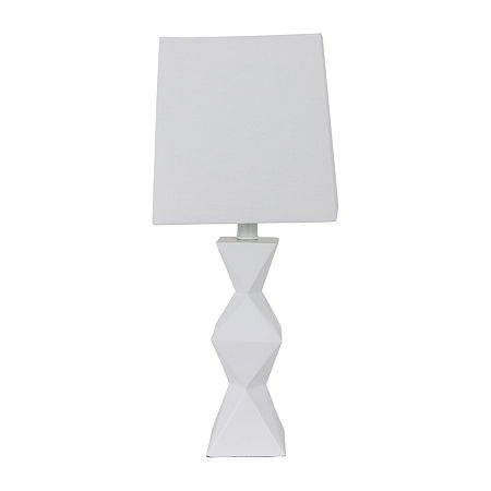 Decor Therapy Knox Stacked Diamond Polyresin Table Lamp, One Size , White