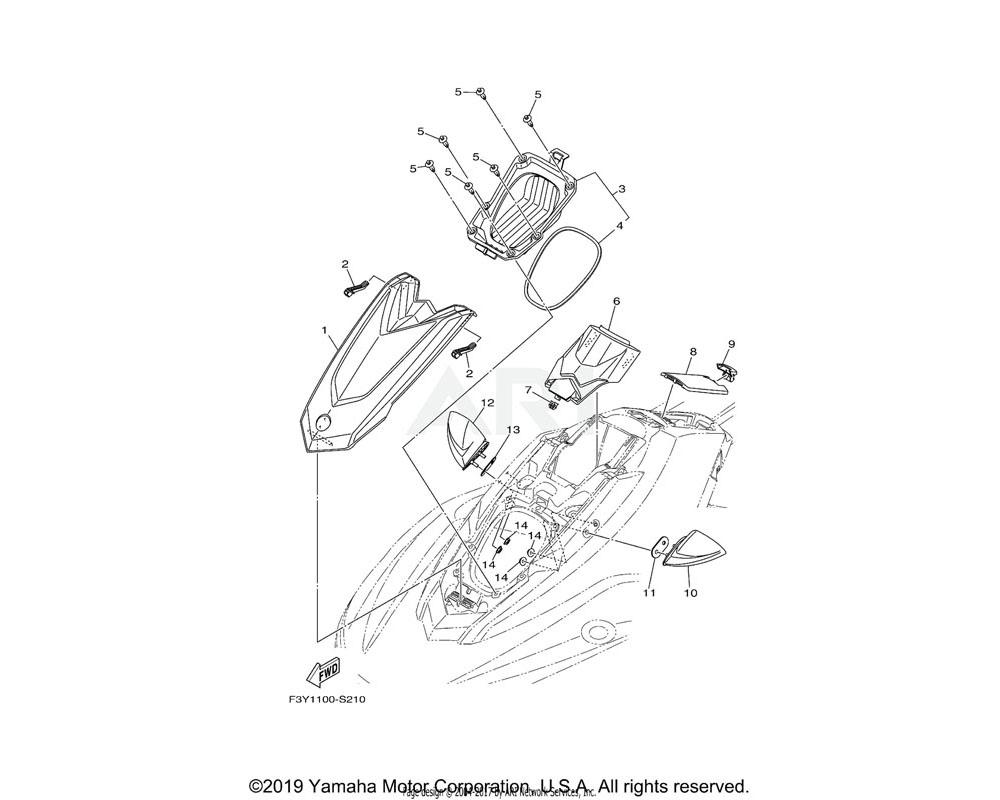 Yamaha OEM F3Y-U475A-00-00 BOWLOCKER ASSY