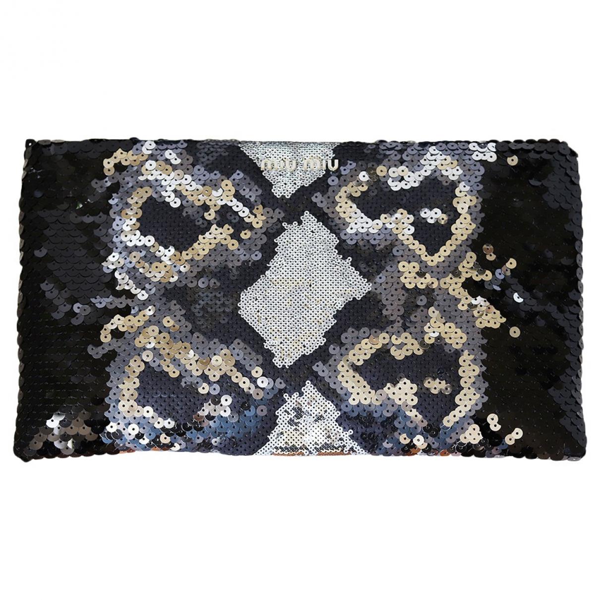 Miu Miu \N Metallic Silk Clutch bag for Women \N