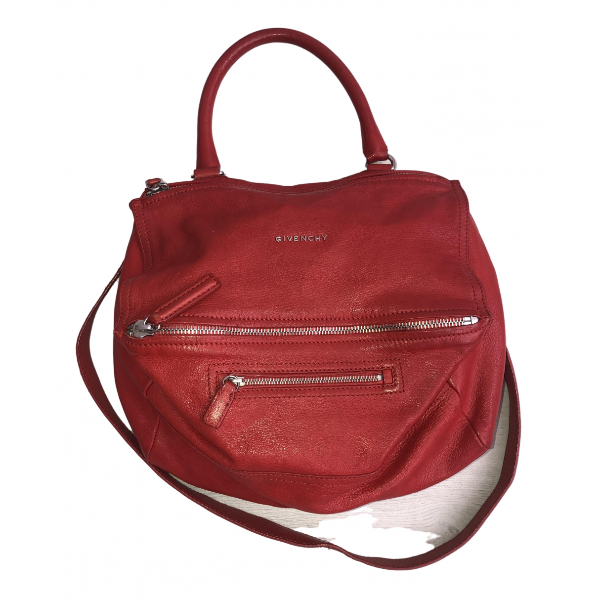Givenchy Pandora Red Leather handbag for Women \N