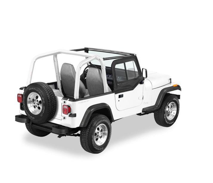 Bestop 51787-35 Black Diamond Upper Door Sliders Jeep Wrangler 1997-2006