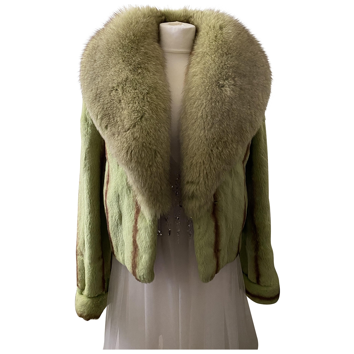Non Signé / Unsigned \N Green Chinchilla coat for Women M International