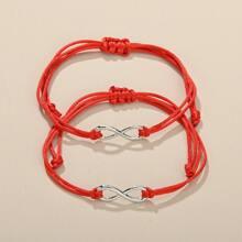 2pcs Infinity String Bracelet