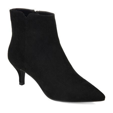 Journee Collection Womens Isobel Kitten Heel Booties, 12 Medium, Black