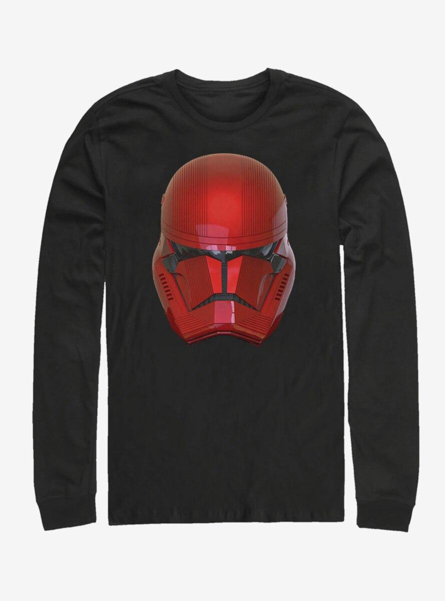 Star Wars Episode IX The Rise Of Skywalker Red Helm Long-Sleeve T-Shirt