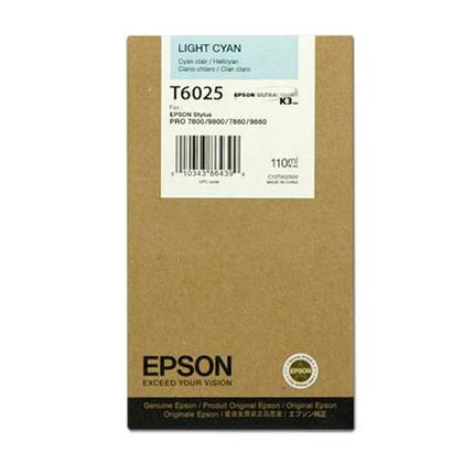 Epson T602500 Original Light Cyan Ink Cartridge