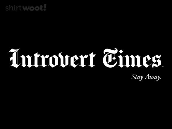 Introvert Times T Shirt