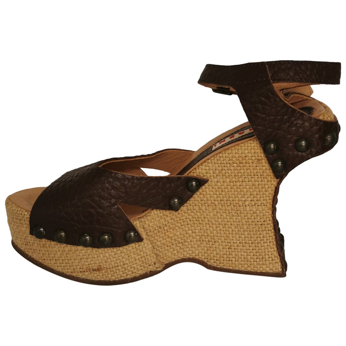 Marni \N Ecru Leather Sandals for Women 37 EU