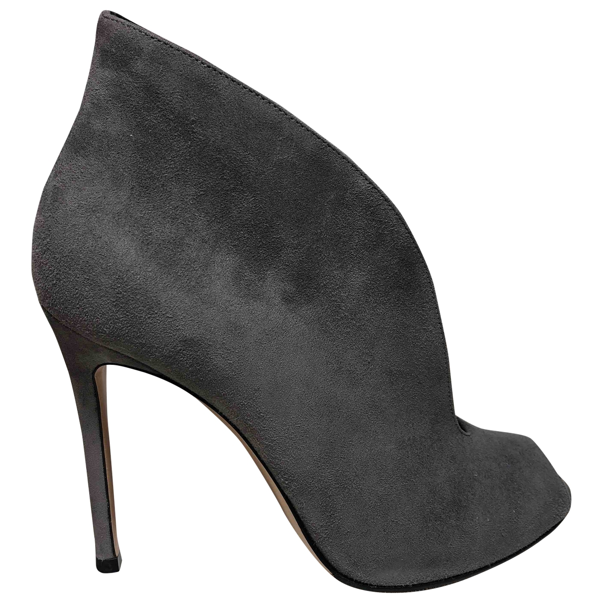 Gianvito Rossi \N Grey Suede Boots for Women 37 EU