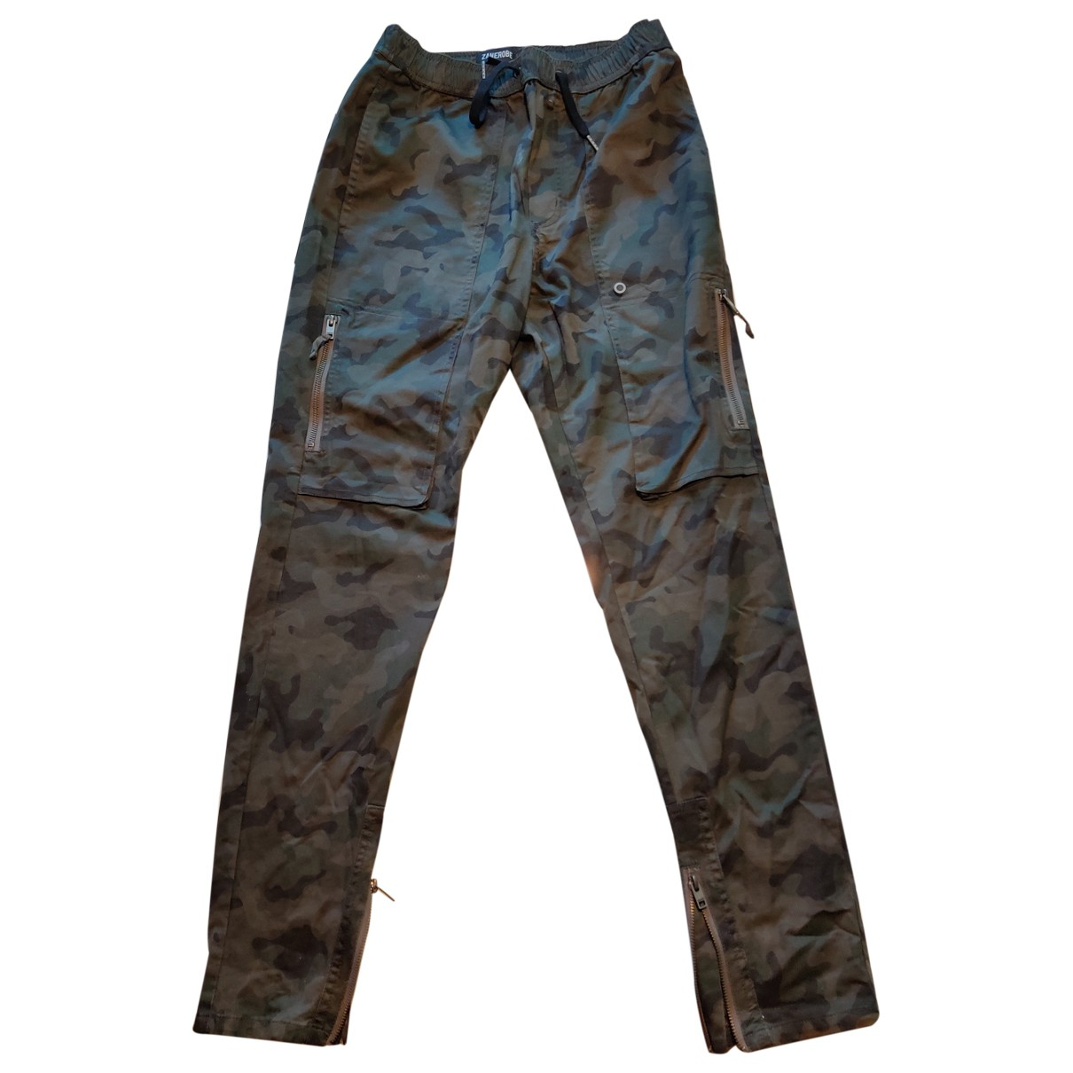 Zanerobe \N Green Cotton Trousers for Men 32 UK - US