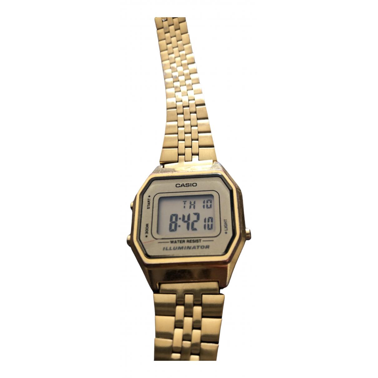 Casio \N Gold Steel watch for Women \N