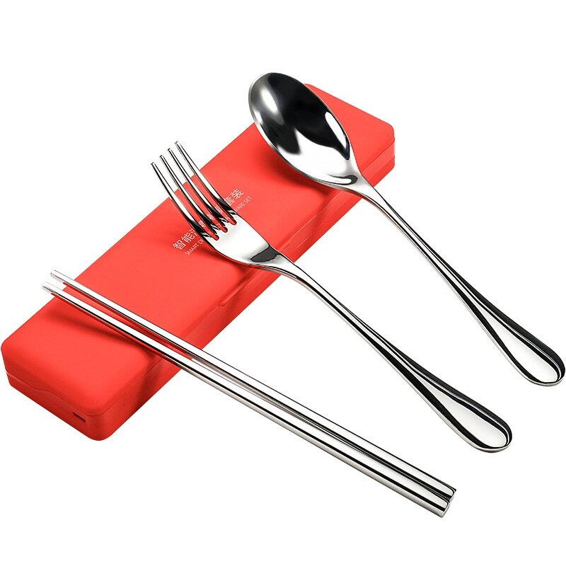 Portable Sterilization Box Creative Tableware Set Stainless Steel Three-Piece Ultraviolet Sterilizer Chopsticks Spoon Fo