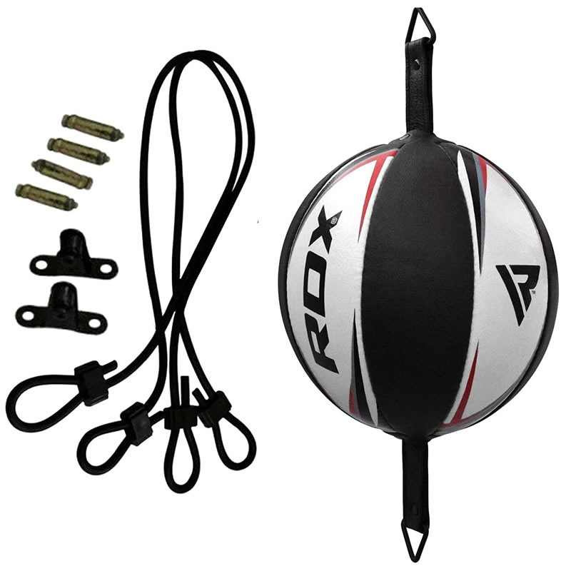 RDX R3 Floor to Ceiling Ball and Rope Leather White/Red/Black