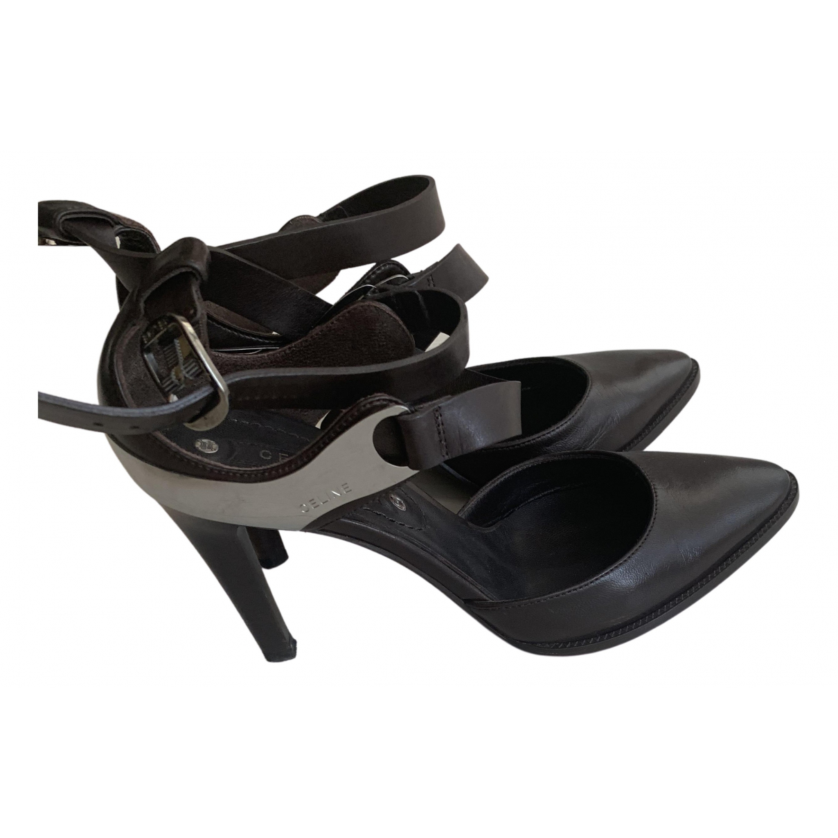 Celine \N Brown Leather Sandals for Women 35 EU