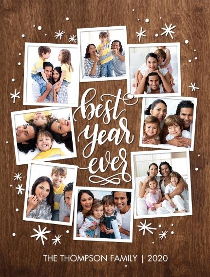 Holiday Plush Fleece Photo Blanket, 60x80, Gift -Blanket Best Year Ever by Tumbalina