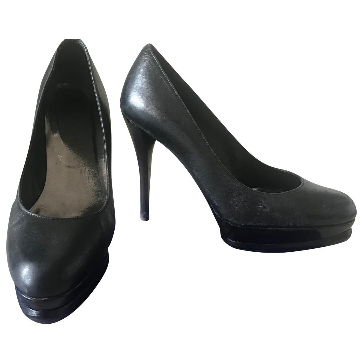 Stuart Weitzman \N Black Leather Heels for Women 37.5 EU