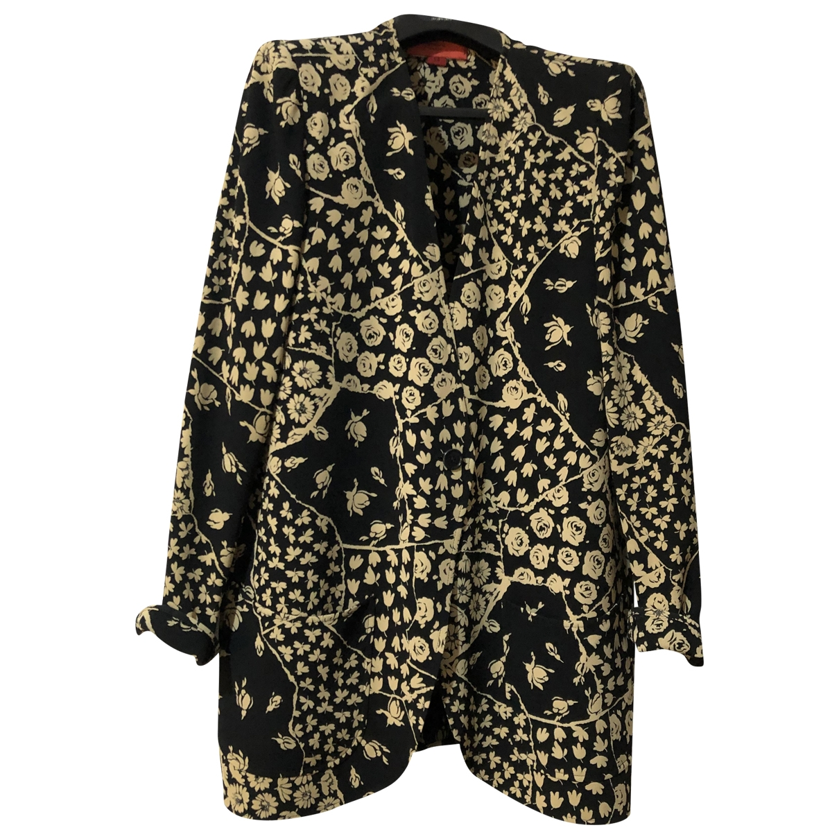Emanuel Ungaro \N Black Silk coat for Women 40 FR