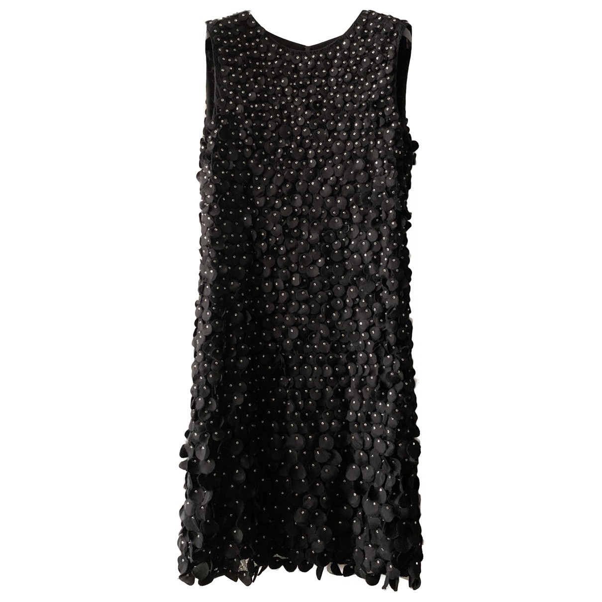 Emporio Armani \N Black Silk dress for Women 44 IT