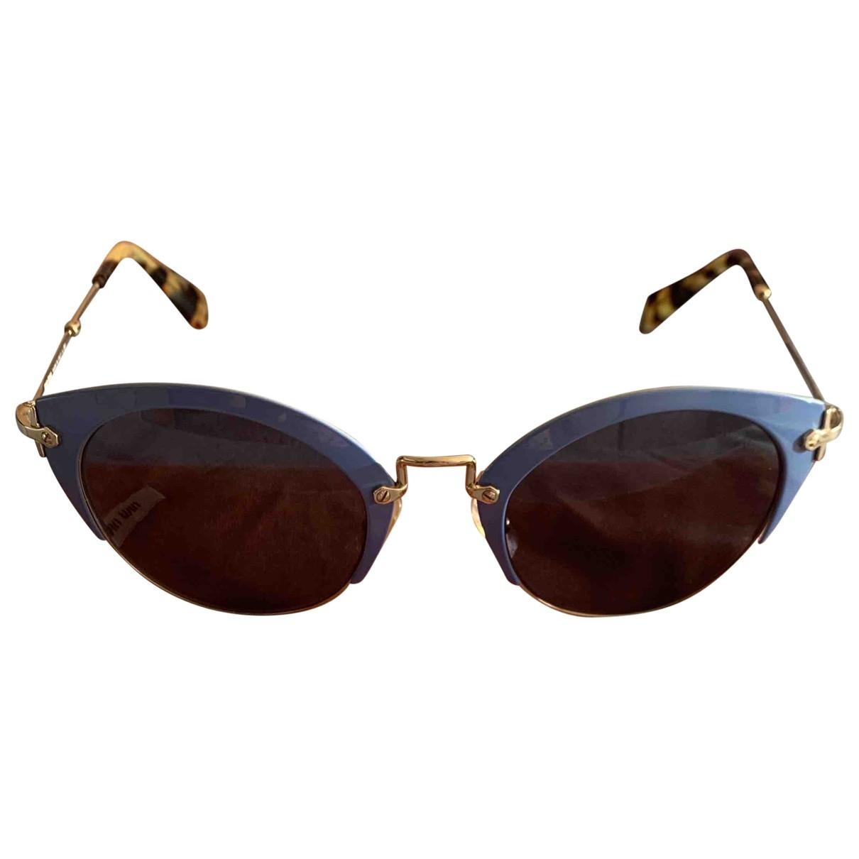 Miu Miu \N Blue Metal Sunglasses for Women \N