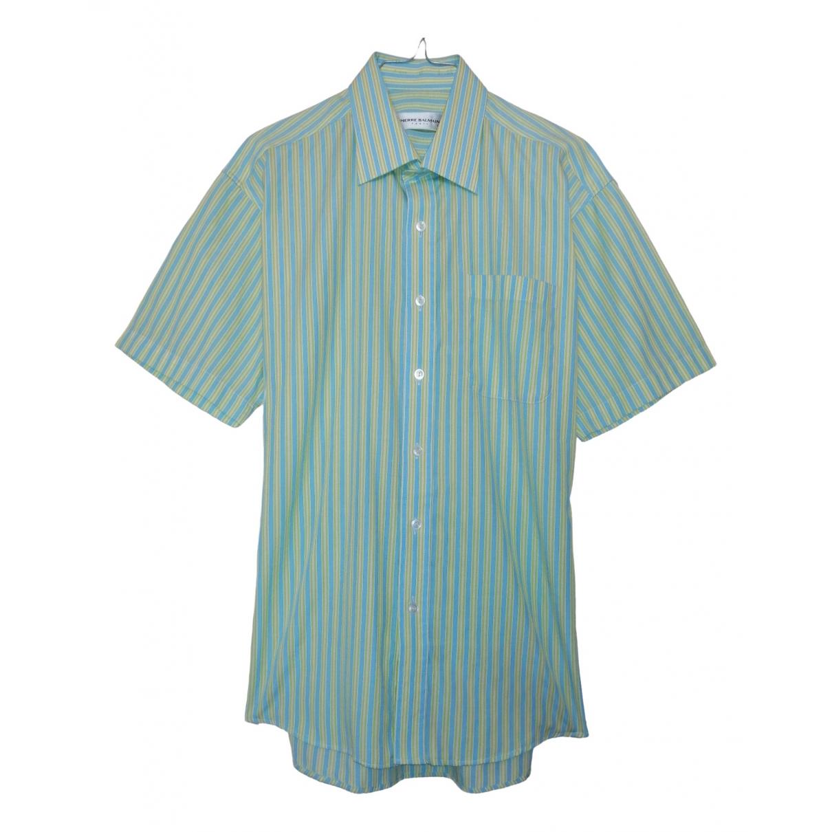 Pierre Balmain \N Green Cotton Shirts for Men M International