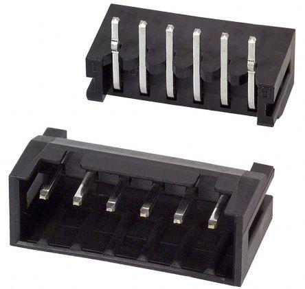 Hirose , DF3, 6 Way, 1 Row, Right Angle PCB Header (10)