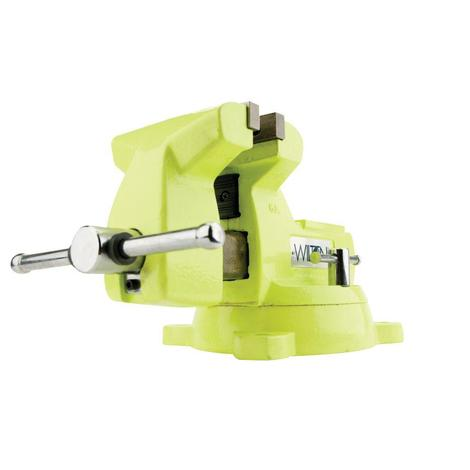 Wilton High-Visibility Safety Vise, 5 In. Jaw Width, 5-1/4 In. Jaw Opening