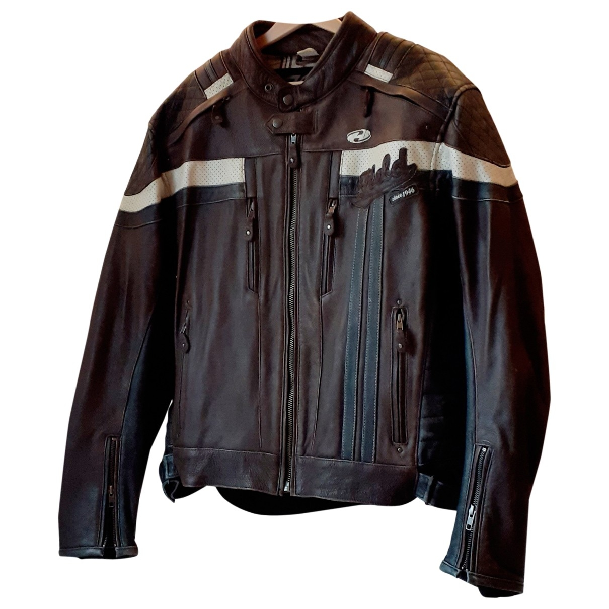 Non Signé / Unsigned \N Brown Leather jacket  for Men XXL International