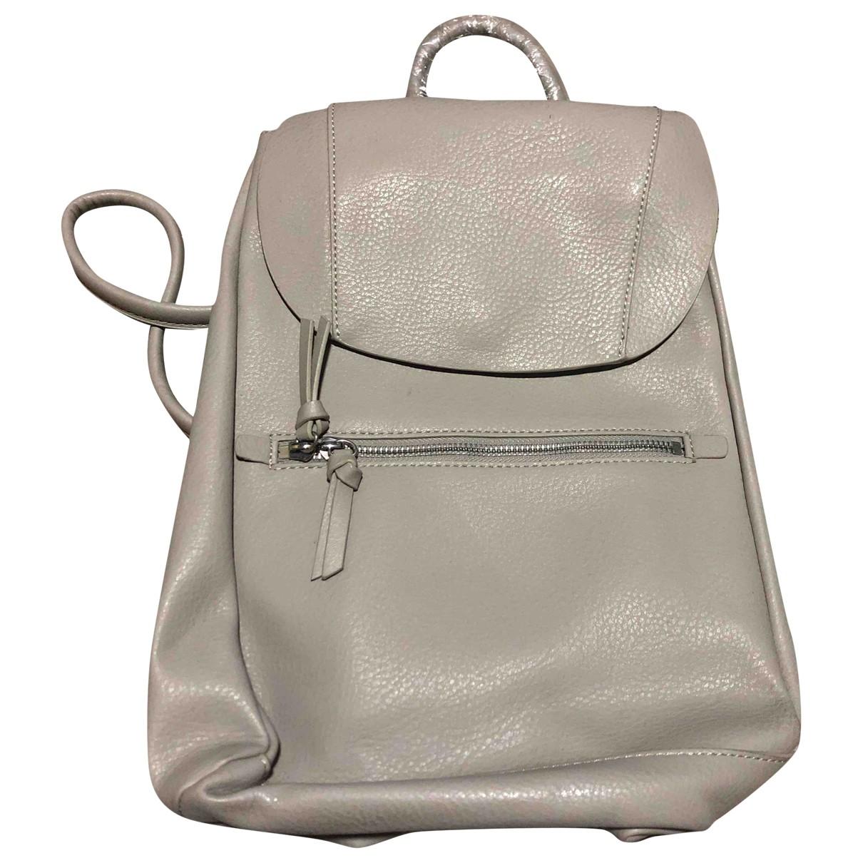 Zara \N Grey Leather backpack for Women \N