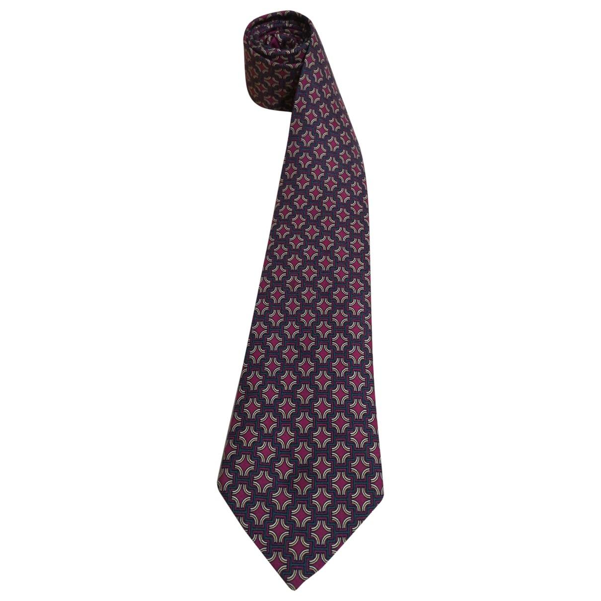 Hermès \N Purple Silk Ties for Men \N
